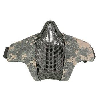 Masque extérieur respirant demi-inférieur Style militaire tactique protection en acier filet maille masque pliable masque de protection