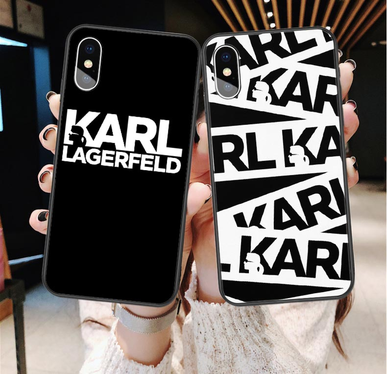 Karl Lagerfeld Soft Silicone TPU Phone Cases For iPhone 7 8 Plus 6 6S Plus X XS MAX XR 5 5S SE Luxury cat Coque Shell Back Cover dispensador de cereal peru