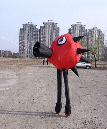 Nouveau 3D jouet d'extérieur en nylon parapluie tissu doux cerf-volant sac facile à voler - 2