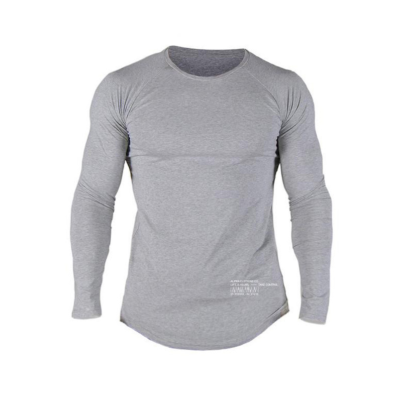 Men's fitness t-shirt 2018 new Solid color Fitness menswear Gyms Fitness Slim T-Shirt Summer quick-drying casual fitness t-shirt