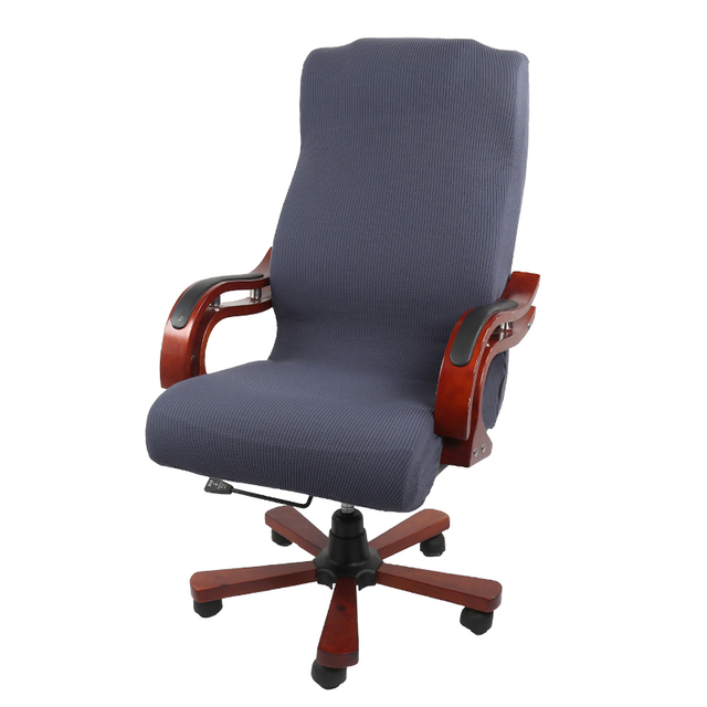 Color sólido cubierta de la silla oficina Silla ordenador Universal casa  giratoria levantar E sports taburete asiento cubre fundas spandex