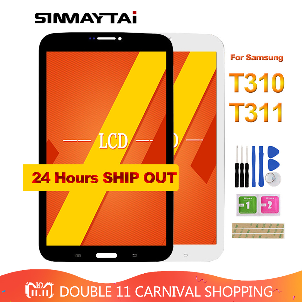 8'' inch For Samsung Galaxy Tab3 8.0 T310 T311 SM-T310 SM-T311 LCD Display and Touch Screen Digitizer Assembly free tools