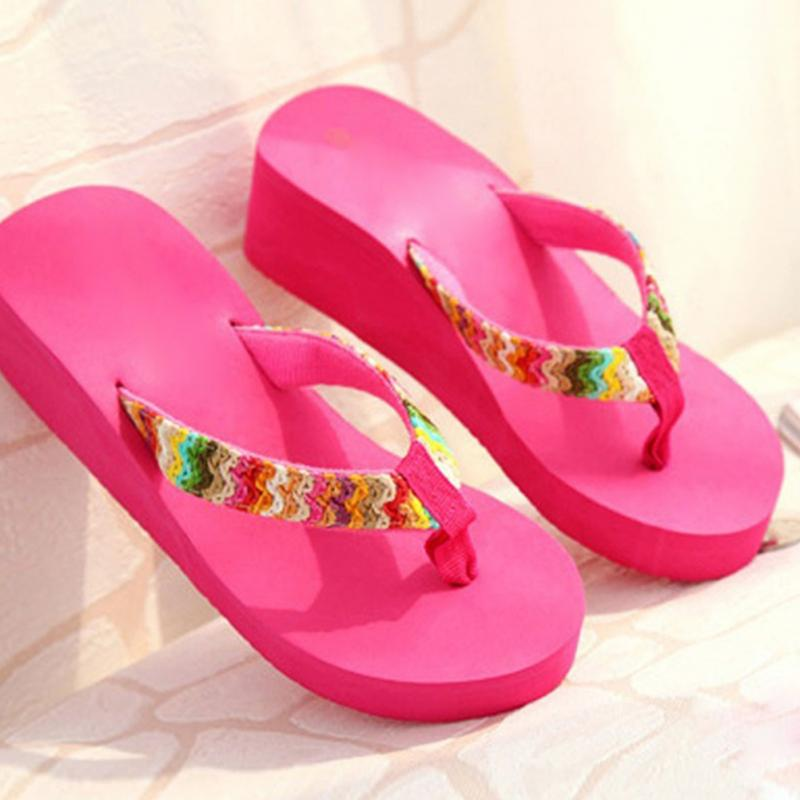 Plus Size 35-42 Flower Print Casual Women's Slippers 2018 New Beach Platform Shoes For Woman Summer Cloth Females Flip Flops цена 2017