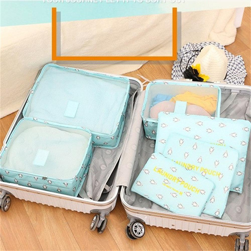 Luggage Organiser Waterproof Packing Bag Travel Oxford Zipper Home Cartoon Clothing -20