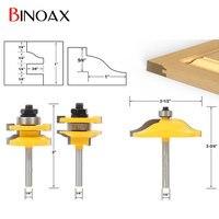 Binoax 3pcs 1 4 Shank Door Panel Woodworking Cutter Tools Cabinet Router Bits Set