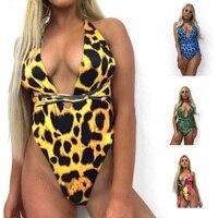Women Snakeskin Swimsuit Sexy Bikini Yellow Leopard Blue Green Snakeskin Rainbow 4 Colors Bodysuits Sports Beach One Piece Suit