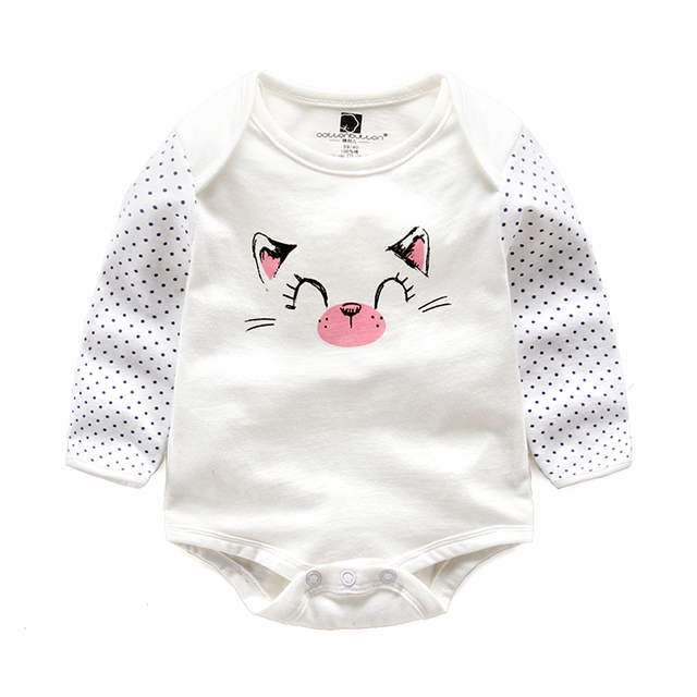 infant romper baby cotton long sleeved baby clothes spring