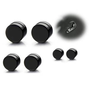 Lifinsky 1 Pair Punk Mens Magnetic Ear Stud Black Earrings