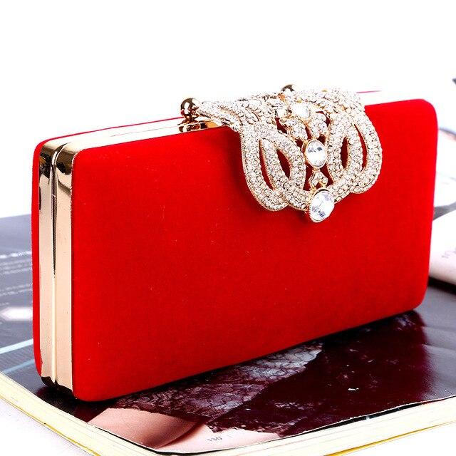 Crown rhinestone Clutch evening bag