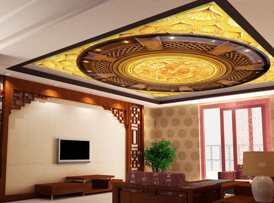 Online get cheap dragon ceiling alibaba for 3d ceiling wallpaper