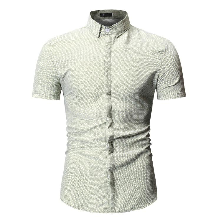 Casual Short sleeved Blouse Men Flower Social Shirt Men Summer Floral Men 39 s dress Shirts Fashion Slim fit in Casual Shirts from Men 39 s Clothing