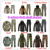 TAD Lurker Shark Skin Outdoor Military Uniform Tactical Camouflage Soft Shell Jacket Sports Hunting Army Clothes