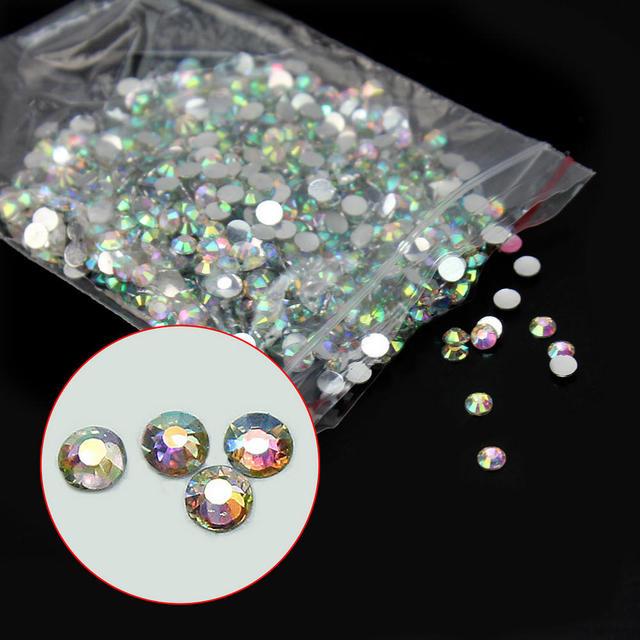 1000x Sparking 2 3mm 14 Facets Resin Rhinestone Gem Flat Back Crystal AB  Beads Wedding Cards Nails Phone Decor DIY Beading Kits 06a3ccc8740c