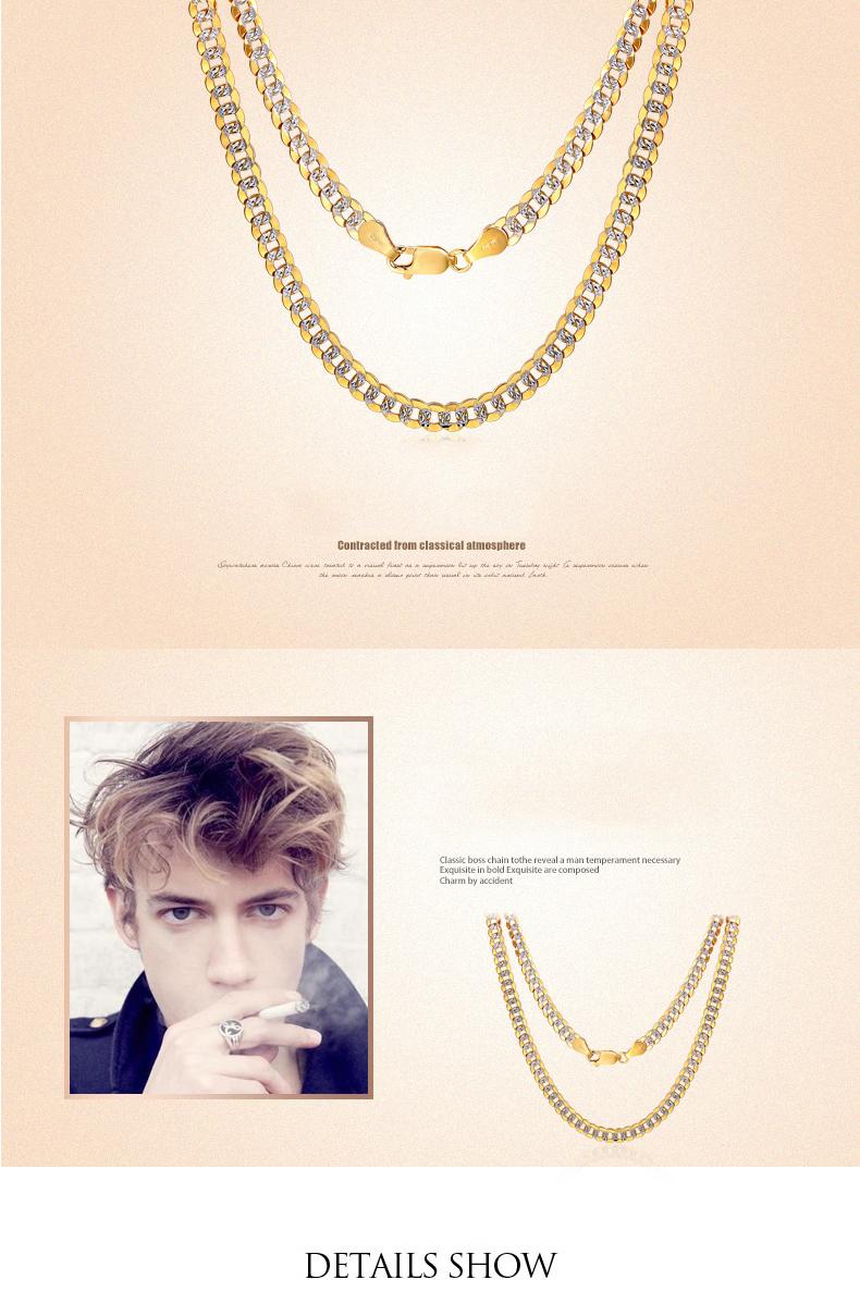 62528550d08d Collar de oro puro 18 K Real AU 750 cadena de oro sólido Simple de lujo de  moda clásica de fiesta joyería fina Venta caliente Nuevo 2018