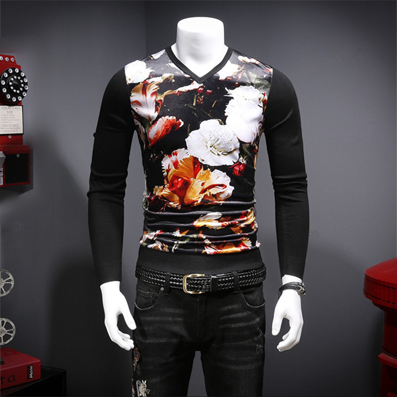 Sweater Velvet Floral-Pattern Autumn Luxury M-3XL Soft 3D Pleuche Patchwork Printing