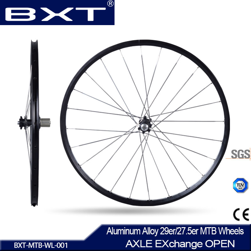 2017 Chinese BXT New no carbon Mountain bicycle Wheels 27.5er/29er Ultralight Alloy AXLE EXhange OPEN MTB Bike Wheels Free Shipp 2018 anima 27 5 carbon mountain bike with slx aluminium wheels 33 speed hydraulic disc brake 650b mtb bicycle