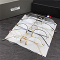 Hand-made Retro óculos de armação de Metal óculos de armação armação miopia Thom Browne Oculos óculos óculos de leitura óculos com embalagem original