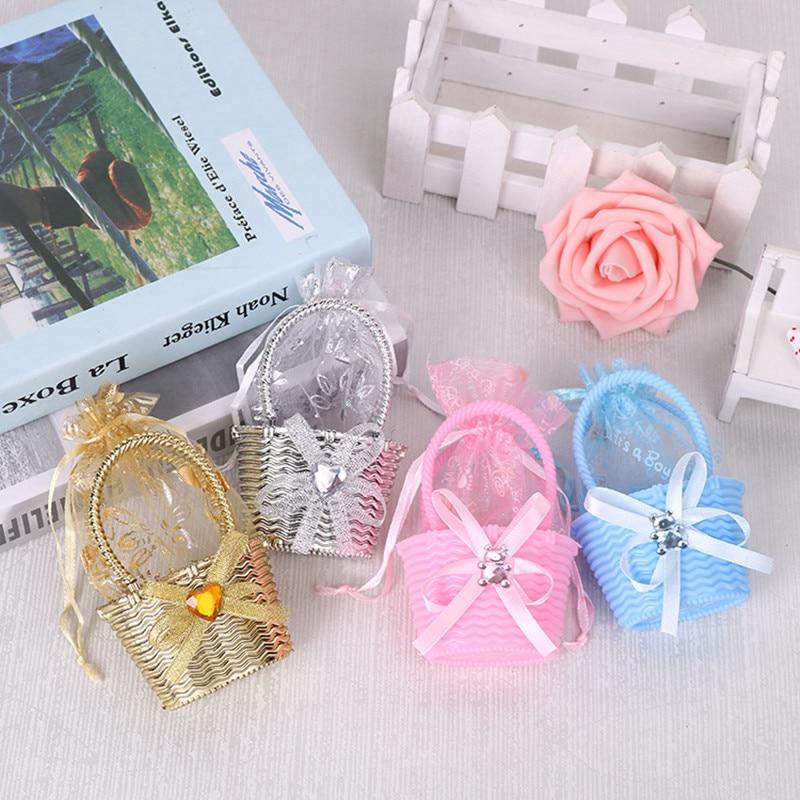 크리 에이 티브 웨딩 캔디 상자 사탕 가방 선물 상자 웨딩 호의 선물 상자 가방 베이비 샤워 신부 샤워 달콤한 사탕 선물 상자