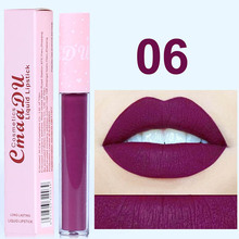 CmaaDu 6 Color Pink Tube Matte Liquid Lipstick Waterproof Loong-lasting Pigment Nude Velvet Lip Gloss Makeup Beauty Red Lip Tint