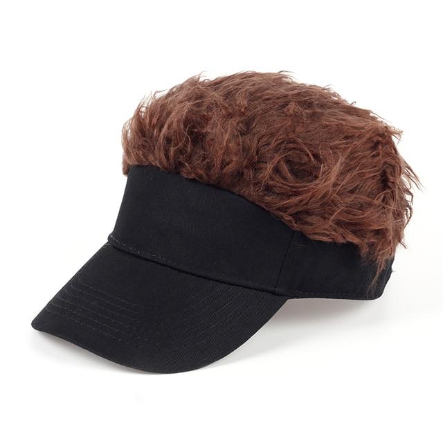 TUNICA Hot New Fashion Novelty Baseball Cap Fake Flair Hair Sun Visor Hats  Men s Women s Toupee 79b9b86fd9f