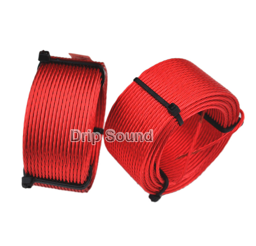 1pcs 1.8mH-3.8mH 0.6mmx7 Multi Strand Wire Speaker Crossover Audio Amplifier Inductor Oxygen-Free Copper Wire Coil #Red1pcs 1.8mH-3.8mH 0.6mmx7 Multi Strand Wire Speaker Crossover Audio Amplifier Inductor Oxygen-Free Copper Wire Coil #Red