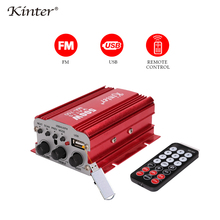 Kinter MA-700 мини-усилитель аудио 2.0CH DC12V Поддержка USB вход FM радио Воспроизведение стерео звук поставка дистанционное управление