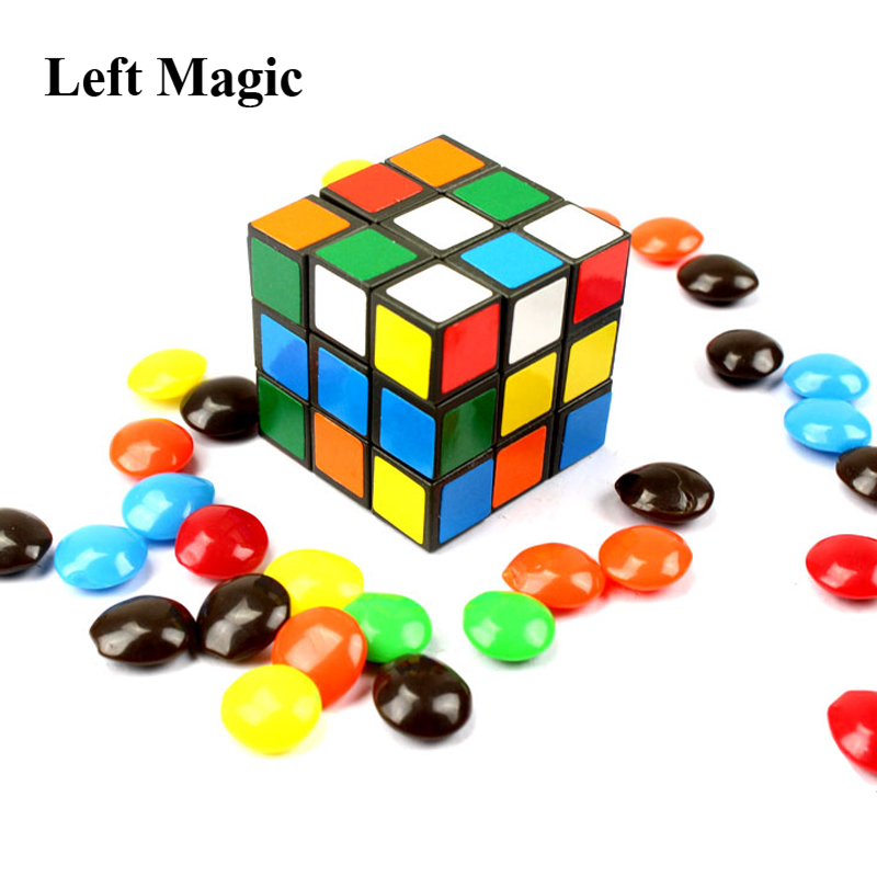 Cube To Candy (Not Include Candy) Magic Tricks Stage Gimmick Prop Illusion Funny Object Appearing Magic Props Accessories