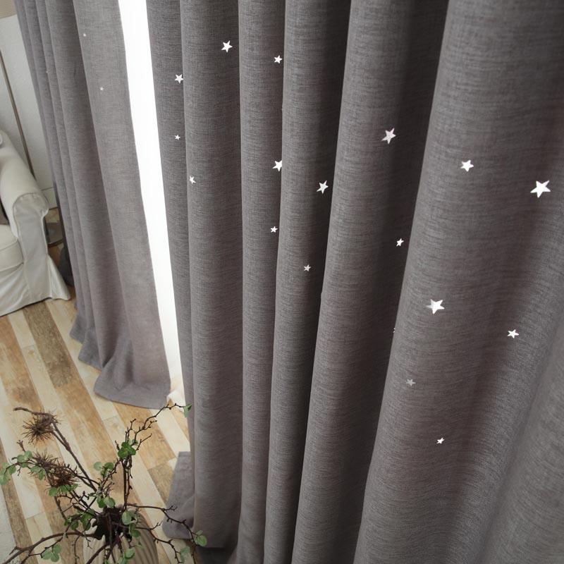 Urijk Moderne Fenster Vorhang Wohnzimmer 3d Hohle Stern Muster Behandlungen Vorhnge Feste Fr Schlafzimmer Einzelplatte