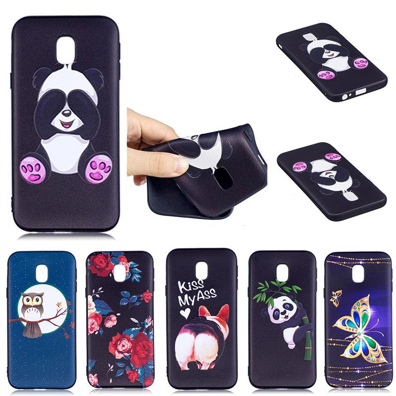 Galleria fotografica Smartphone Accessories For Samsung Galaxy J330 J3 2017 Cases Silicone Rubber 3D Cartoon Owl Relief Matte Phone Cases J330 J32017