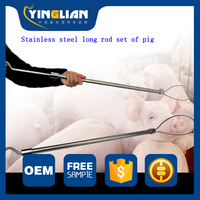 Free shipping Long distance Baoding pig equipment longboom set pig the beast Stainless steel long rod set of pig Guinea Pigs