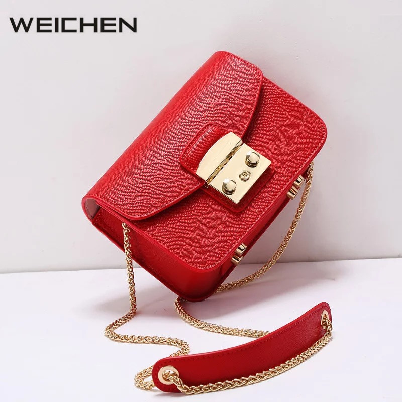 Red Mini Bag Women Shoulder Bag Fashion Flap Leather Cross Body Bags Women  2018 Newest Female Messenger Bags Bolsa Feminina f091059012b56