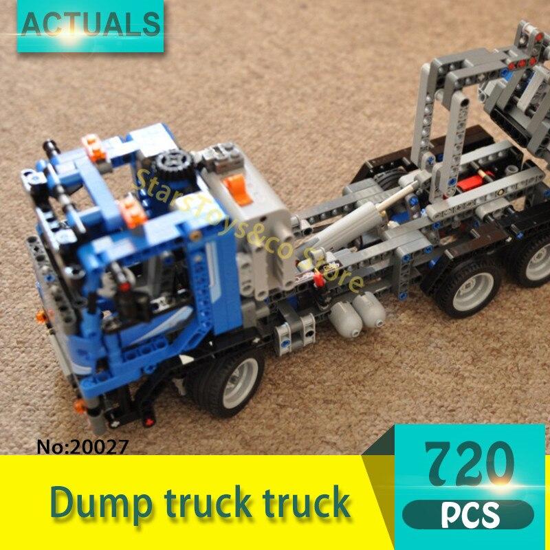 Lepin 20027 720Pcs Technic series Dump truck truck Model Building Blocks Set  Bricks Toys For Children  Gift pollutants spread around gweru dump site