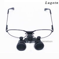 2.5X surgical magnifying lens medical dental loupe metal frame optical changeable nearsighted glass dentist surgical magnifier