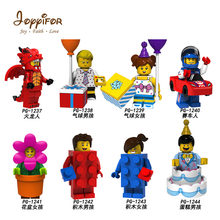 Joyyifor Shipping Superhero DIY Blocks Ninjagoes Blocks Compatible With Legoingly Happy birthday serial cake flower party girl(China)
