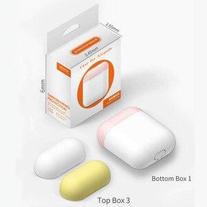 Image 5 - Nowy stylowy kolor cukierki silikonowy futerał na słuchawki Bluetooth dla Airpods pokrowiec ochronny do torby do ładowania Apple Airpods