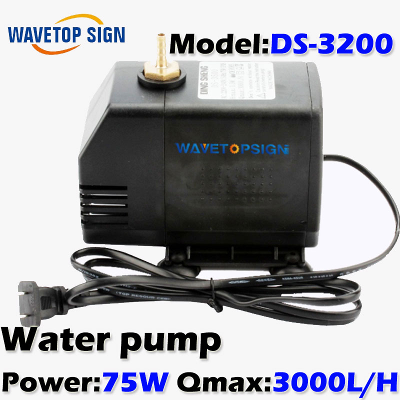 где купить  75W pump cnc engraving machine  DS-3200 for  tool cooling cnc spindle motor water pump 220V 75W 1.5KW 2.2KW spindle motor  дешево