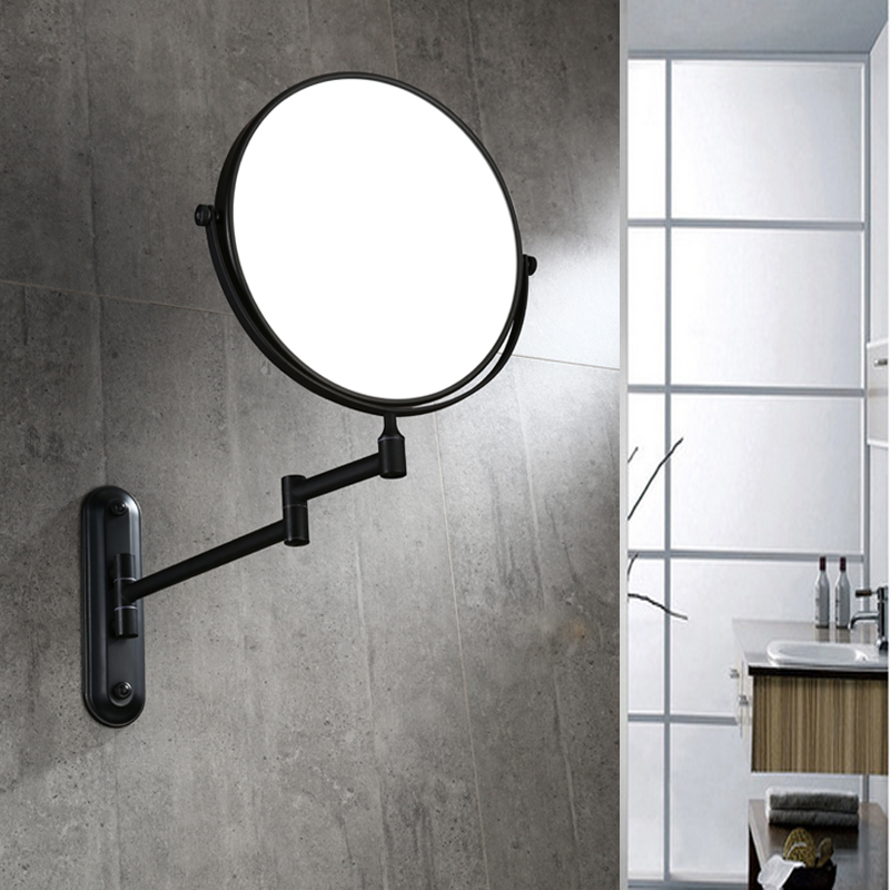 Bath Mirrors 3 X Magnifying Mirror of Bathroom Makeup Mirror Folding Shave 8 Dual Side Wall-mounted  Round Mirrors YM22