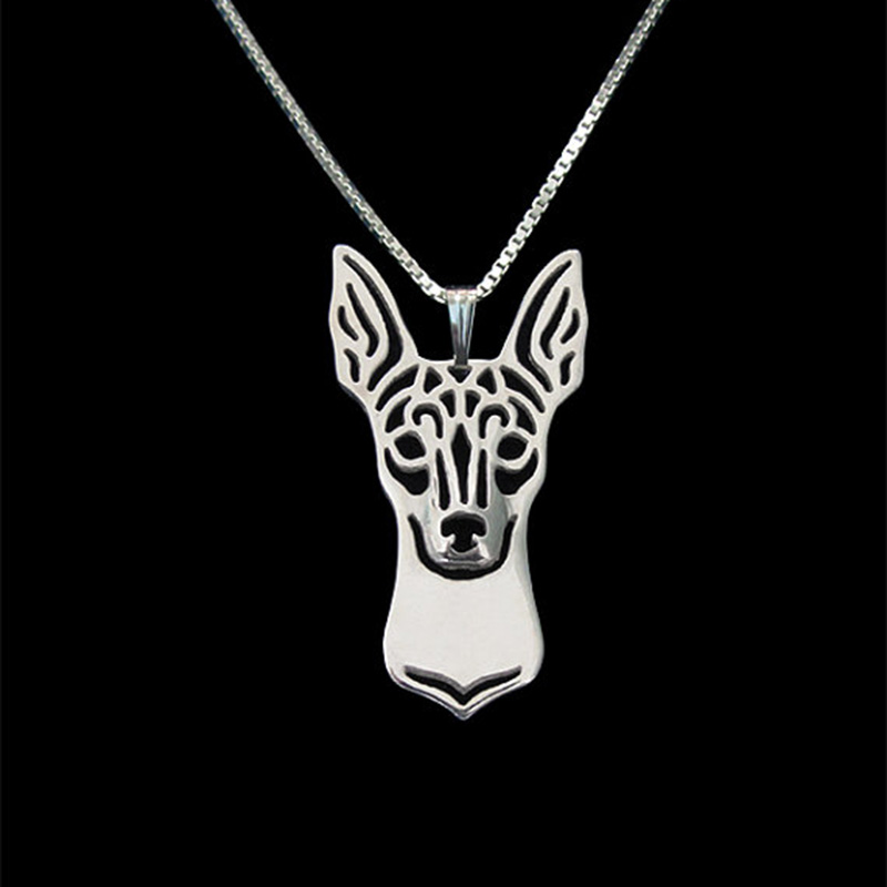 New  Unique Romantic Gold Silver Color Toy Fox Terrier Pendant Necklace Hunger Games Necklace Women Best Friend Choker