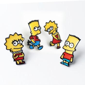 Simpson Lisa and Bart Ear Studs Earrings