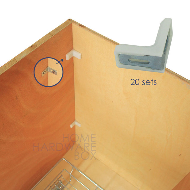 Corner Brace 90 Degrees Right Angle Cabinet L Bracket Clamp Joint 20 Set