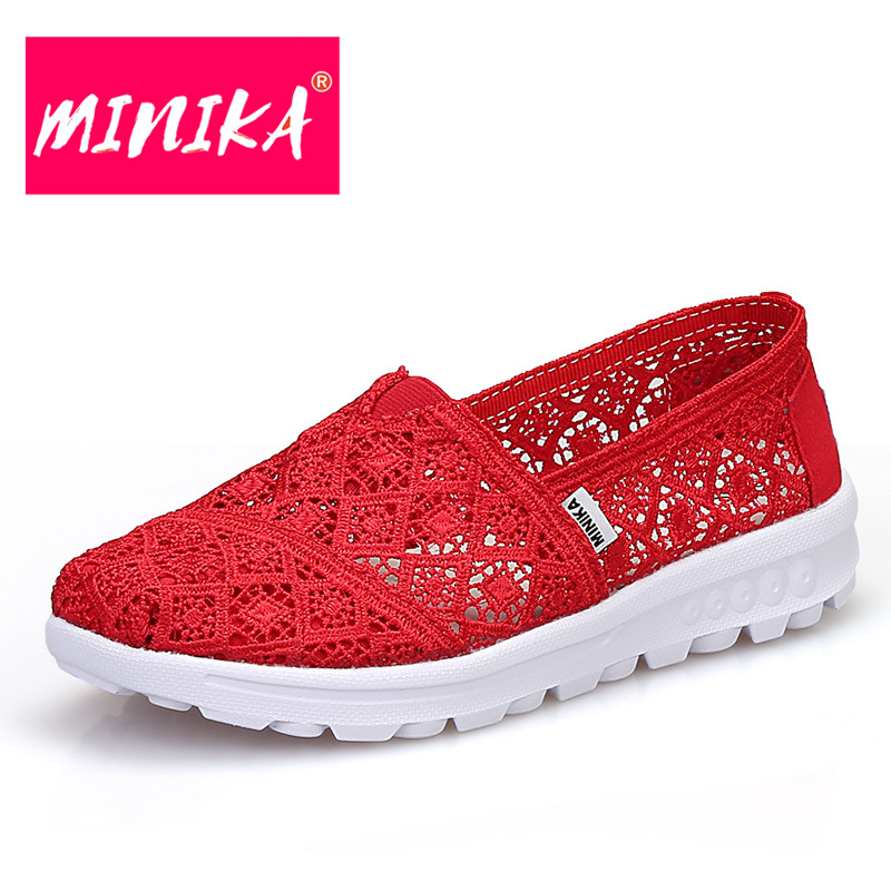 MINIKA New 2017 Platform Shoes Women Slip-On Casual Shoes Women Lace Shoes Solid Colors Fashion Design Flat Shoes Women minika new arrival 2017 casual shoes women multicolor optional comfortable women flat shoes fashion patchwork platform shoes
