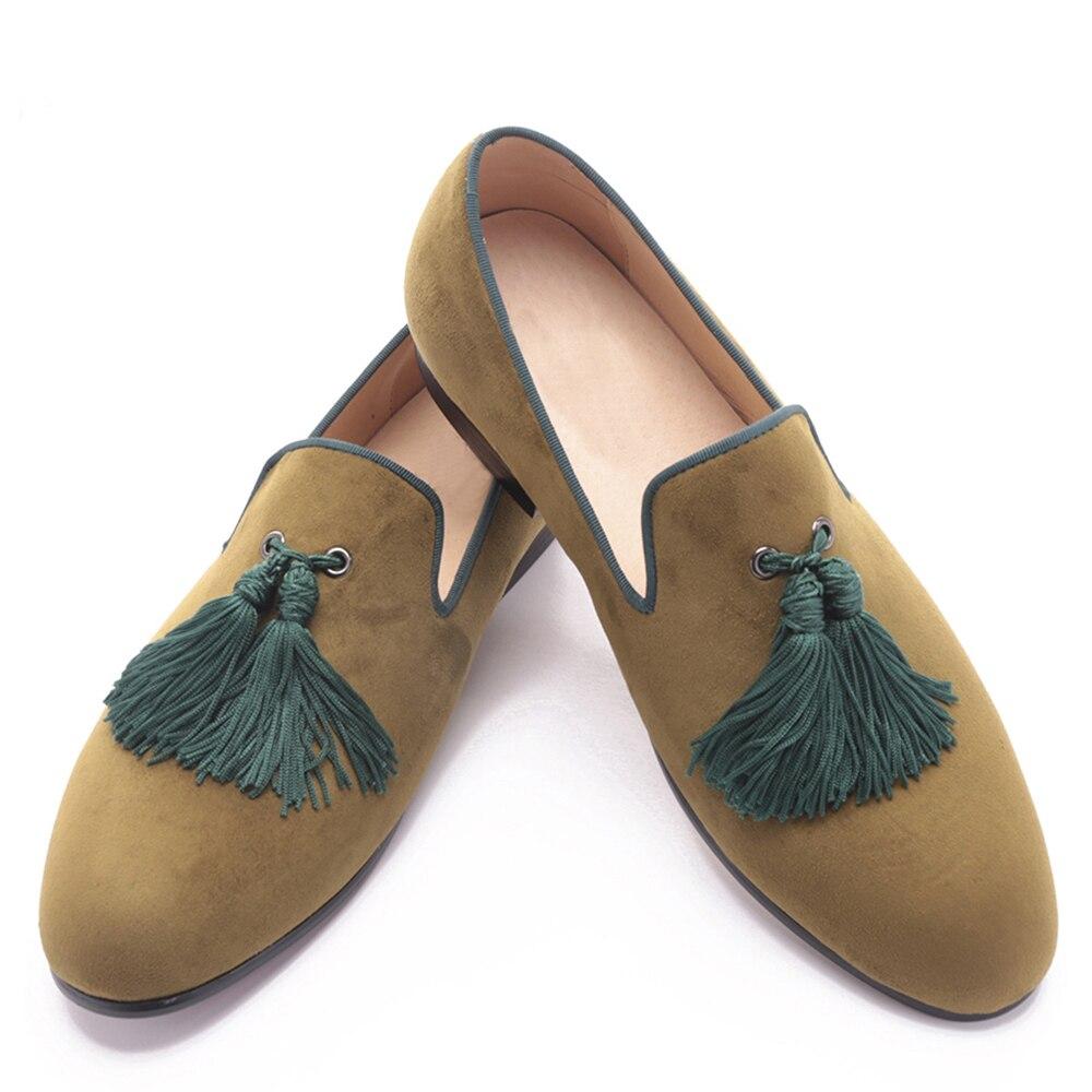 2017 men two color velvet shoes with new style green tassel luxurious prom and Banquet men dress loafers men's flats болторез зубр эксперт губки из хромомолибденовой стали 350мм 14 23311 035 z01