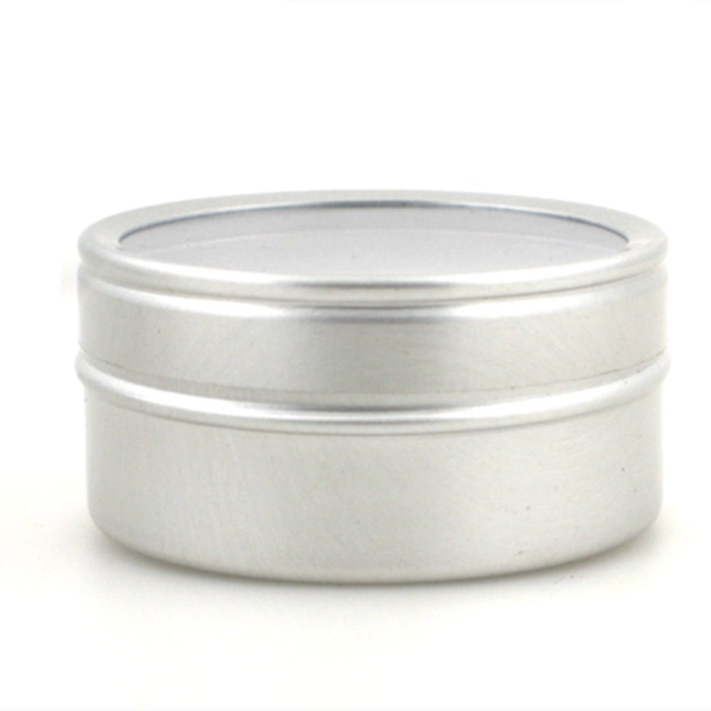 40ml Empty  Round Aluminium, Metal,Container,case,jar, Pot, Balm Tins With Clear View Window Lid