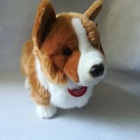 about 30cm cute welsh corgi dog soft doll plush toy kids toy birthday gift h2861