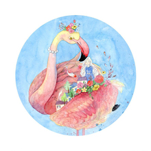 5D Diy Diamond Painting Full Square Flamingos Party Decoration Home Decoration Diamond Mosaic Custom Photo and Drop Shipping 5d diy diamond painting full square holy spirit elf girl decoration home decoration diamond mosaic custom photo drop shipping