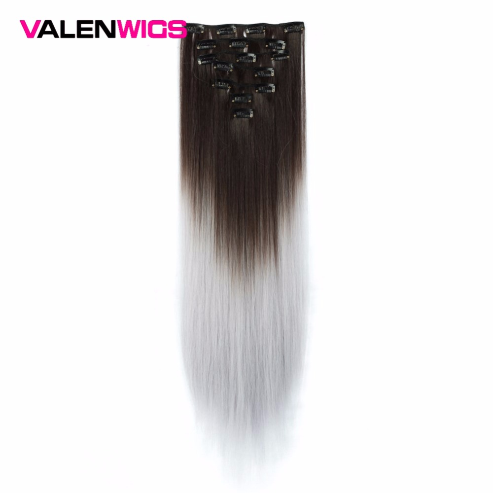 Hot Sale Valen Wigs Grey Hair Extension Heat Resistant Synthetic