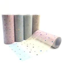 Rainbow Tulle Roll 15cm 10yards Glitter Sequins Soft Yarn Tutu Wedding Decoration DIY Crafts Birthday Party Supplies