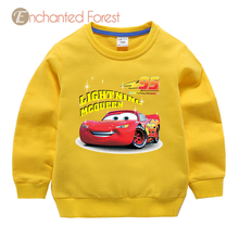 Children's sweater 2018 autumn children's clothes boy and girl cartoon car people print shirt baby casual cotton child sweater