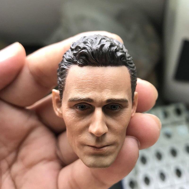 """1/6 Scale Captain Raytheon Tom Hiddleston Loki Head Sculpt Headplay for 12"""" Action Figure Body"""