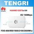 Desbloqueado huawei e5573 e5573s-320 150 100mbps 4g lte cat4 hotspot móvel com suporte para até 10 usuários